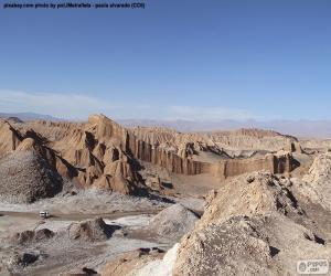 Puzle Údolí měsíce, Chile