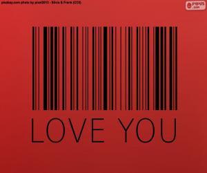 Puzle Čárový kód, Love you