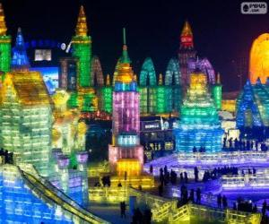 Puzle Čína Harbin ice Festival