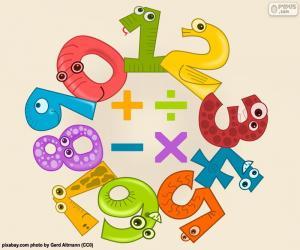 Puzle Čísla a symboly