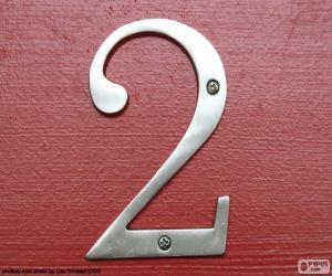 Puzle Číslo 2, barva stříbrná