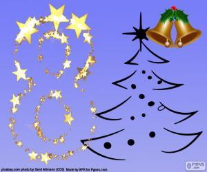 Puzle Číslo 8 k Vánocům