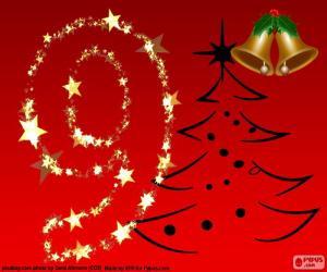 Puzle Číslo 9 Vánoce