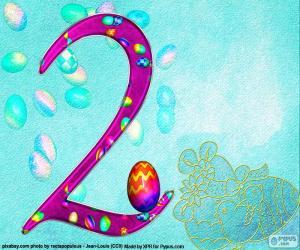 Puzle Číslo dvě velikonoční