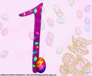 Puzle Číslo jedna z Velikonoc