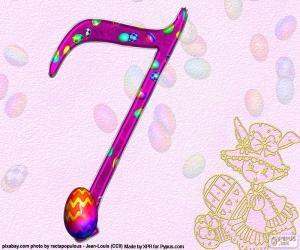 Puzle Číslo sedm velikonočních