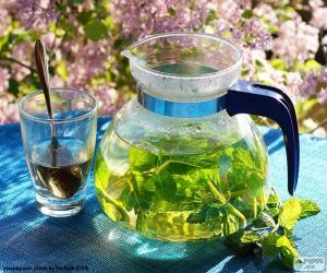 Puzle Čaj z čerstvé máty