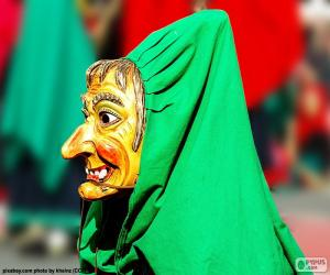 Puzle Čarodějnice maska