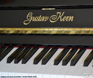 Puzle Černá piano