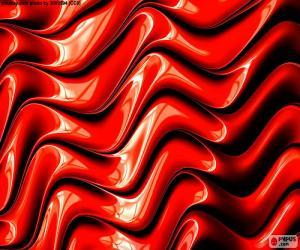 Puzle Červená barva