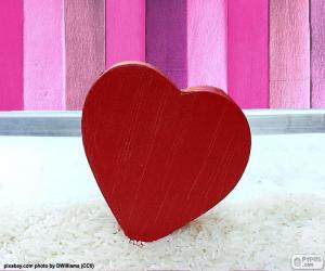Puzle Červené srdce
