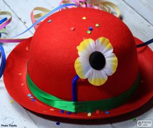 Puzle Červený buřinku s květinou