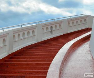 Puzle Červený schody