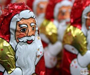 Puzle Čokoládový Santa Claus