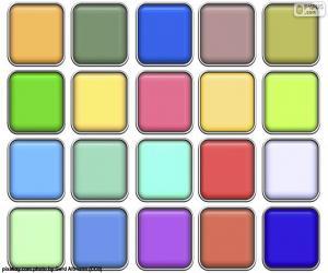 Puzle Čtverce barev
