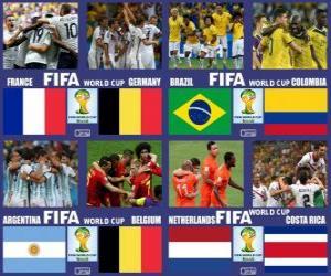 Puzle Čtvrtfinále, Brazílie 2014