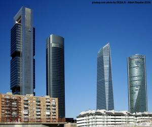 Puzle Čtyři věže Madrid