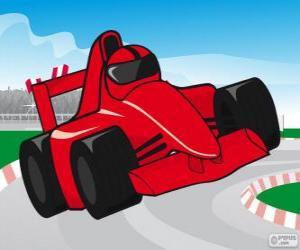 Puzle červený F1 závodní auto