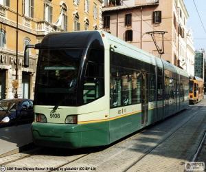 Puzle Řím tramvaje