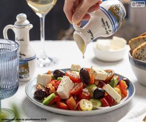 Puzle Řecký salát