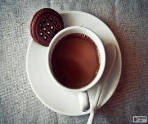Puzle Šálek horké čokolády