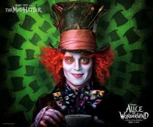 Puzle Šílený kloboučník (Johnny Depp), charakter, který pomáhá Alice