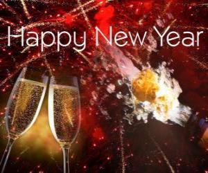 Puzle Šťastný Nový rok