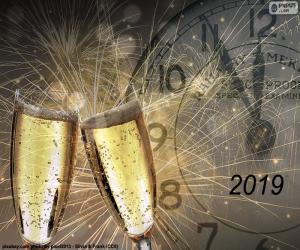 Puzle Šťastný rok 2019