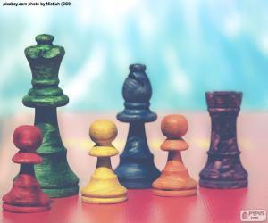 Puzle Šachové figurky