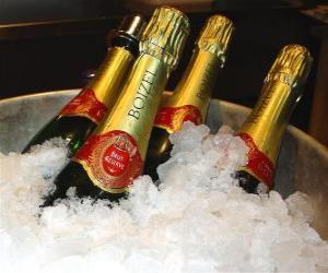 Puzle Šampaňské (nebo sekt), francouzské šampaňské, je druh šumivého vína vyrobeného metodou champenoise v oblasti Champagne ve Francii.