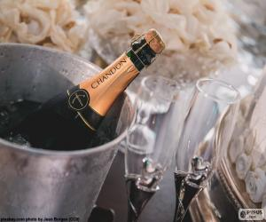 Puzle Šampaňské a brýle