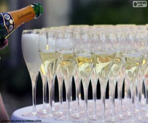 Puzle Šampaňské kelímky