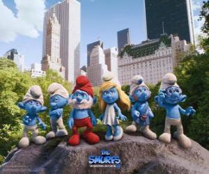 Puzle Šmoulové v Central Parku v New York - Šmoulové, film -