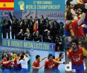 Puzle Španělsko bronzovou medaili na 2011 World házené