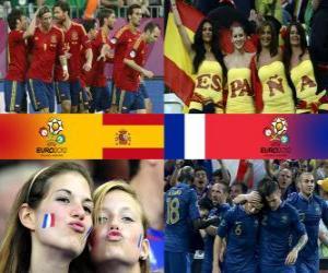 Puzle Španělsko - Francie, čtvrtfinálové, Euro 2012