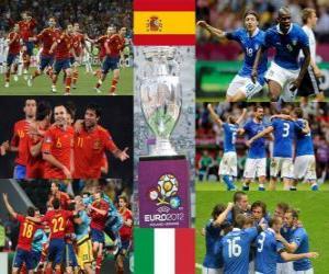 Puzle Španělsko-Itálie. EURO 2012 Finále