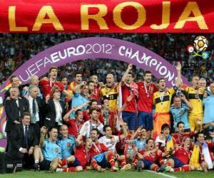 Puzle Španělsko, vítěz UEFA EURO 2012