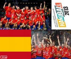 Puzle Španělsko zlaté medaile na Mistrovství světa v házené 2013
