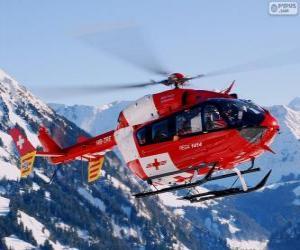 Puzle Švýcarský záchranný vrtulník