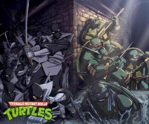 Puzle Želvy Ninja v akci
