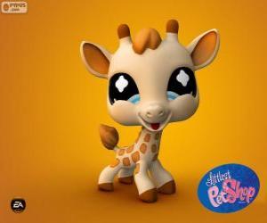 Puzle Žirafa z nejmenší PetShop