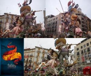 Puzle - Lovec lovili - vítěz Fallas 2011. Na festivalu Fallas je oslavován 15-19 března ve španělské Valencii.
