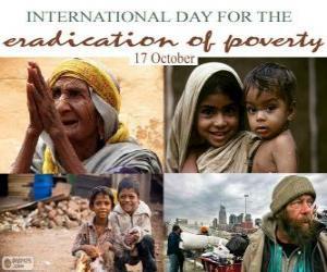 Puzle 17 Říjen, Mezinárodní den za vymýcení chudoby
