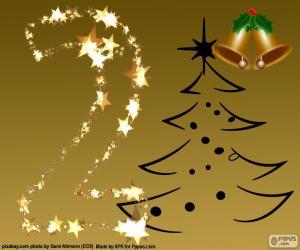 Puzle 2 počet vánoční