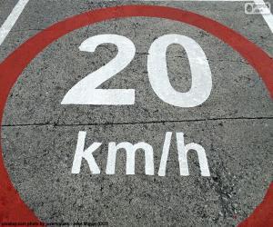 Puzle 20 km/h zóna