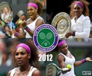Puzle 2012 Wimbledon Champion Serena Williamsová