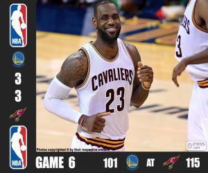 Puzle 2016 NBA finále, hra 6