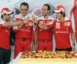 Puzle 29. výročí Fernando Alonso při Grand Prix Maďarska 2010