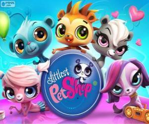 Puzle 5 mazlíčky Littlest PetShop