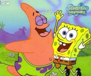 Puzle SpongeBob a Patrick velmi šťastný